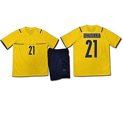 Italia Jersey Soccer, Donnarumma No.21 Jersey, Portero Italiano Jersey Camiseta y Pantalones...