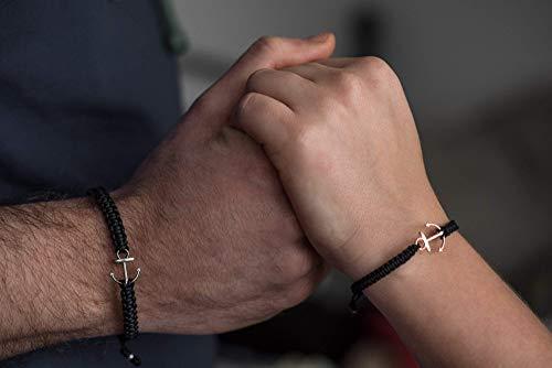Partnerarmband, Partnerarmband mit Anker, Partner Armbänder Maritim, 2 Armbänder als Set