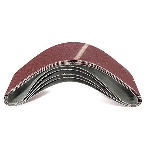 ViewSys Abrasive, Afiladoras de Herramientas 5pcs 60 óxido de Aluminio abrasivo Bandas abrasivas Grit Bandas abrasivas 100x915mm Pincel de Pulido,
