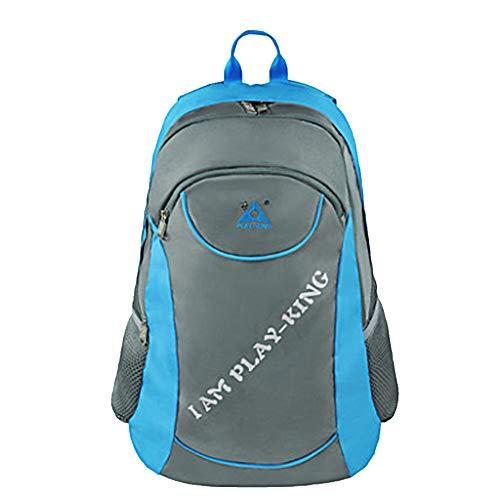 GJF Wasserdichter Wanderrucksack, Unisex 40L Polyester Outdoor-Trekkingrucksack mit Klappstuhl, Lässige Laptoptasche Daypack, Reisender Radsport Klettern Campingrucksack-blue