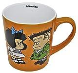 Taza Ceramica Naranja - Manolito - Coleccion Mafalda y Sus Amigos