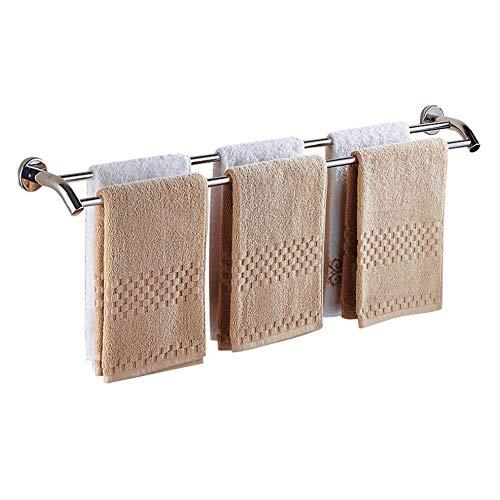 DelongKe Handdoekhouder, roestvrij staal, voor aan de badkamer, hotel, thuis, kledingrek, 2 toren, bar, handdoekhouder-stangen