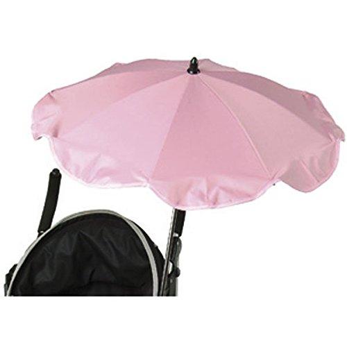 BABYSUN - OMBRELLE ANTI UV TRIPLE FLEXIBLE AVEC EASY CLIP ROSE