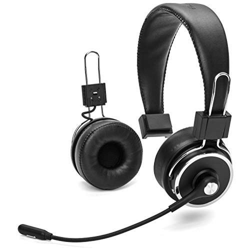 Blue Tiger Elite Plus Premium Single and Dual Ear Wireless Headset – Professional Truckers' Noise Cancellation Head Set with Microphone – Long Battery Life, No Wires - 34 Hour Talk Time