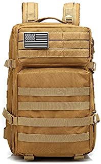 Unisex Outdoor Shoulder Camouflage Bag Tactical Movement Package Large Capacity Men and Women's Backpack XFGBTJKYAUu (Color : Khaki)