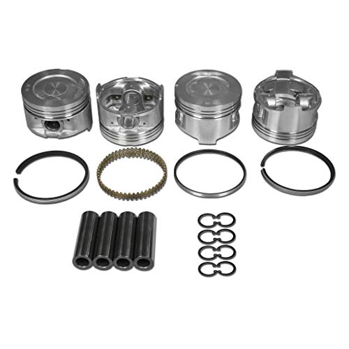 AA Performance Products 22R/22RE Hypereutectic Piston Set W/Rings, Fits Toyota (Oversize 1.00)