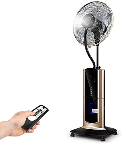 Daily Accessories Household energy saving cooling fan Pedestal Fans Oscillating Cooling Misting Spray Fan Large for Household Humidifier Can Remote Electric desktop fan