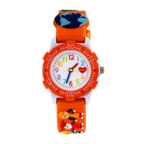 ENFANTS analogique, montres Filles Time Teacher montre pour enfant pour enfant lire l'heure étanche Enseigner jouet montres pour enfants filles