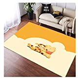 Rugs Carpet Rectangular Living Room Children Girl Bedroom Home Decoration Cartoon Pooh Anime Door Mat Sofa Bedside Table Study Cushion Anti-Slip