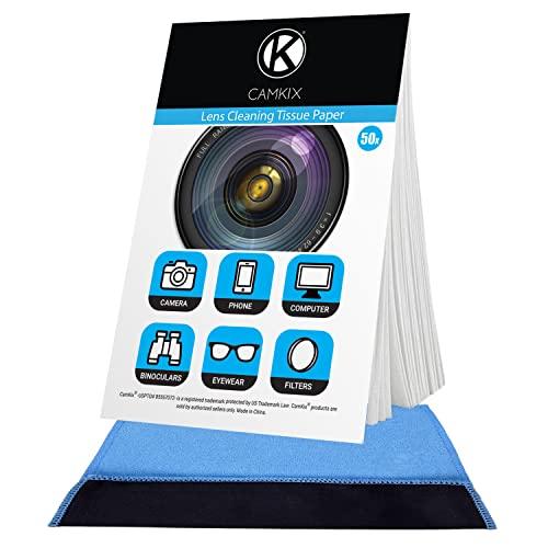 Camkix Linsenreinigungspapier 6x Heftchen / 300 Blatt + Doppelseitiges Reinigungstuch - Linsenreinigungspapier für Verwendung mit Kameraobjektiven - Doppelseitiges Reinigungstuch für die Verwendung
