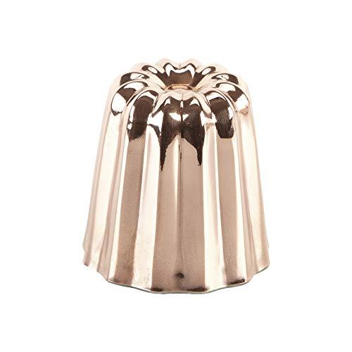 Grilo 811008 Lot 4 Moule à Cannelé Cuivre, Intériur Étamé, Moyenne Modèle (4,5 cm), Autre, Rouge