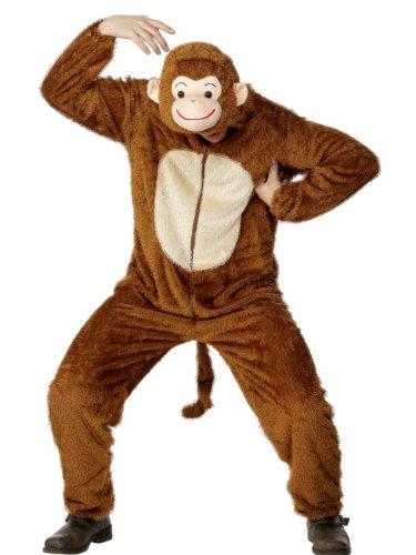 SMIFFYS Costume da scimmia, adulto include tuta con cappuccio