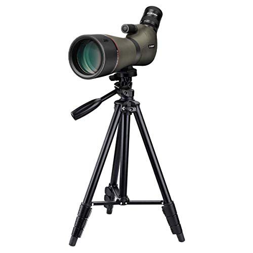 SVBONY SV46 Spotting Scope with Tripod HD Dual Focus 20-60x80 Zoom IPX7 Waterproof Long Range Angled Telescope for Bird Watching Hunting Archery Range