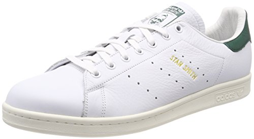 adidas Stan Smith, Zapatillas para Hombre, Blanco (Footwear White/Footwear White/Collegiate Green 0), 45 1/3 EU