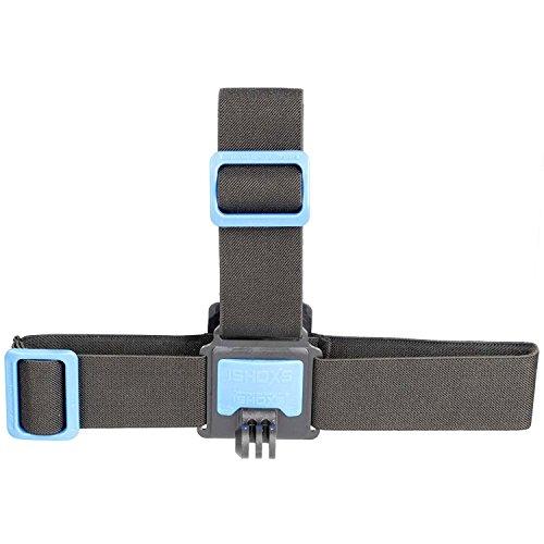 iSHOXS Head Strap Stirnband - Action-Cam Kopf-Halterung passend für GoPro Hero und kompatible Action-Kameras, Kopfband auch zur Verwendung mit Helm geeignet