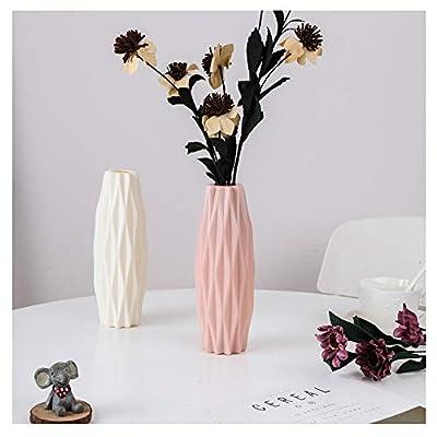 2PC Vases For Flowers Geometry Vase Home Décor Vase for Living Room,Office (pink+white)