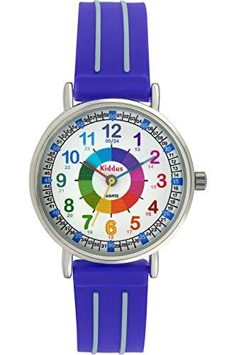 KIDDUS Reloj Educativo para niño, Chica, Chico. De Pulsera,...