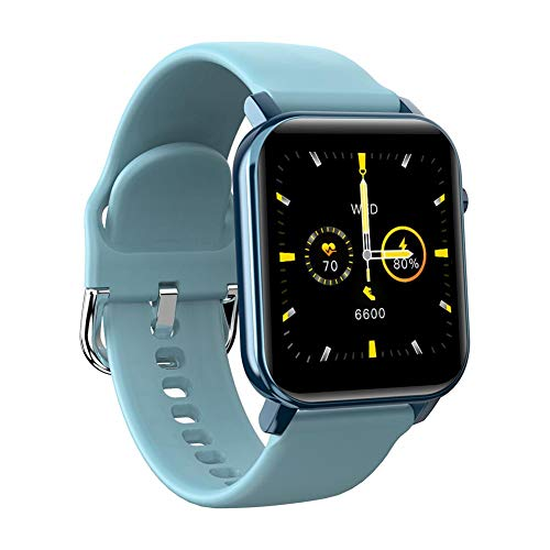aheadad - Reloj inteligente para mujer, hombre, reloj deportivo de alta definición, impermeable, con correa de silicona extraíble, monitor de salud, multideporte, pulsera inteligente