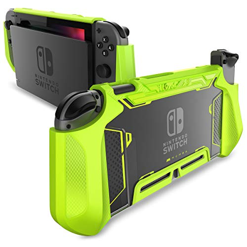Dockable Case for Nintendo Switch - Mumba [Blade Series] TPU Grip Protective Cover Case Compatible with Nintendo Switch Console and Joy-Con Controller (Green)