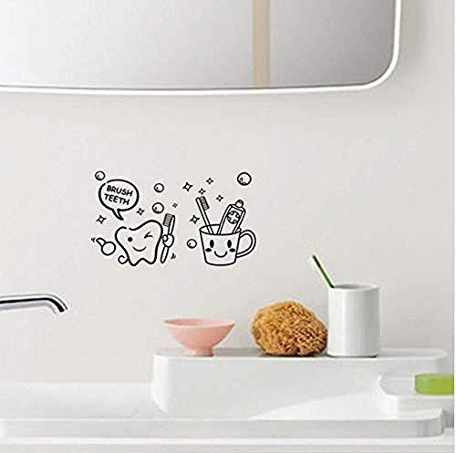 Wandtattoos & Wandbilder Zahnbürste Badezimmer Toilettenpapier Großhandel benutzerdefinierte Hintergrund Wand wasserdicht kann entfernt werden