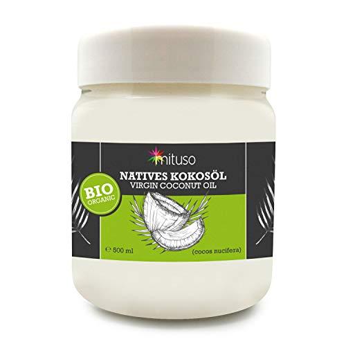 mituso Bio Kokosöl, nativ, 1er Pack (1 x 500 ml) in Dose