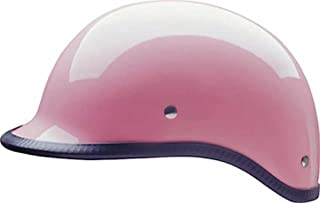 HCI Women's Pink Polo Motorcycle D.O.T Half Helmet - ABS Shell 105-214