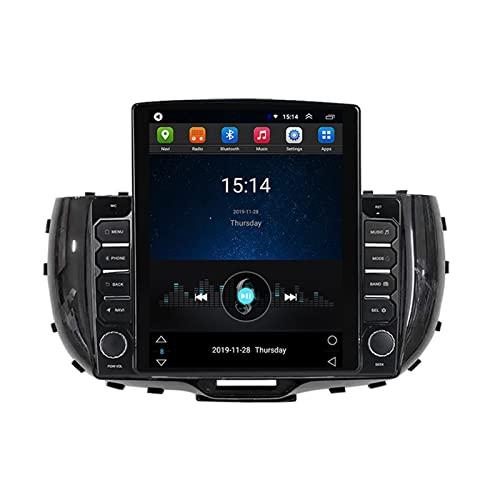 ADMLZQQ 9.7' 2.5D Screen Android Radio Coche Doble DIN para KIA Soul 2019 2020,Vertical Autoradio Estéreo Coche Soporte WiFi GPS Mirror-Link Mandos De Volante Cámara Trasera FM Am DSP,Ts200
