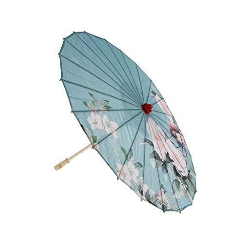FLAMEER 1 Pieza Paraguas Parasol de Tela de Seda Pintado de Arte...