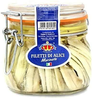 Filetti di Alici Marinate in Olio di Girasole Curreri...