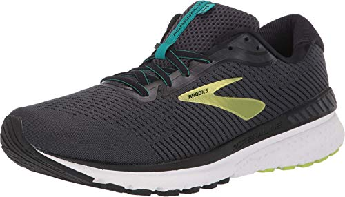 Brooks Adrenaline GTS 20, Zapatilla De Correr para Hombre, Black/Lime/Blue Grass, 47.5 EU