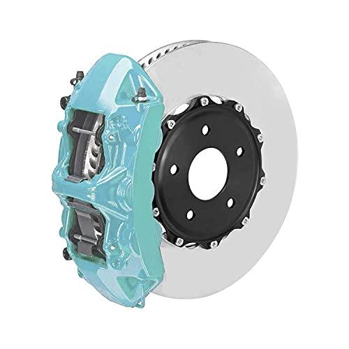 OMAC Bremssattellack Bremssattelfarbe Auto Lack Set   Bremsenreiniger und das Härtemittel Hitzebeständig Komplettsatz für 4 Bremssättel 7-teiliges Nevada Blau