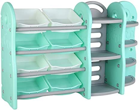 POTBY Kids Toy Storage Organizer 4 Layer Children Play Collection Shelves Bookshelf Corner Rack product image