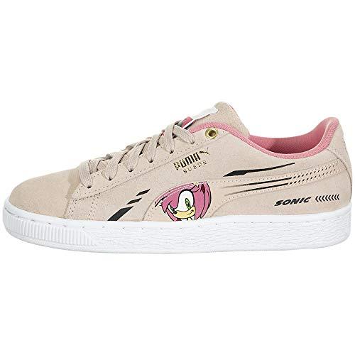 PUMA Ragazzi Suede X Sega Sonic Lace Up Sneakers (Little Kids) Casual Sneakers,, rosa (Acqua di rosa.), 19 EU