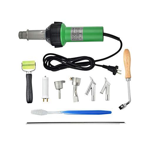 TTLIFE 1600W Kunststoffschweißgerät, Heißluftpistole Heißluftbrenner Kunststoffschweißgerät Vinylschweiß-Heißluftpistole, Bodenschweißset mit Geschwindigkeitsdüsenwalze Pe PVC-Kunststoffstange