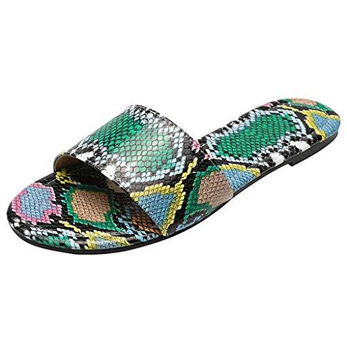 Dorical Damen Sandalen Hausschuhe Weiche Indoor/Outdoor Pantoffeln,Mutter rutschfeste Sandaletten 36-42 EU(Grün,40 EU)
