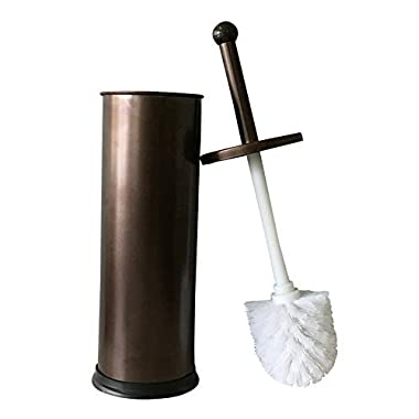 YoYo Moon Bronze Toilet Brush for Tall Toilet Bowl with Lid Brush Holder