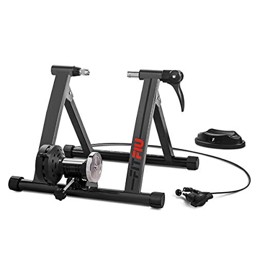 Fitfiu Fitness ROB-20 - Rullo per bicicletta pieghevole con 5 livelli di resistenza, compatibile con ruote da 26