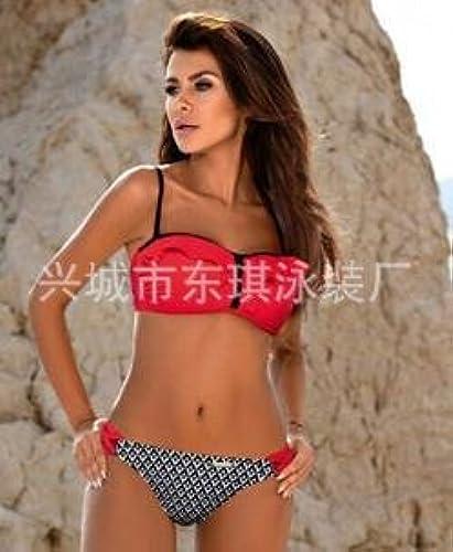 Gyps Femme Bikini Sexy de Bain Bikini à Bretelle Triangle maillot de bain Plage Bikini Bikini Confort Moderne - Bikini Moderne Confort Bikini Deux Pièces Imprimé Maillot de Bain Figure 9, S