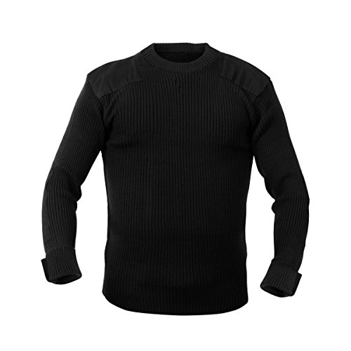 Rothco Acrylic Commando Sweater, Black, X-Large