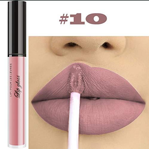 10pcs/Set Makeup Matte Lipstick Lip Kit, Velvety Liquid Lipstick Waterproof Long Lasting Durable Nude Lip Gloss Beauty Cosmetics Set