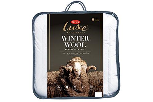Tontine T7645 Luxe Australian Winter Wool Quilt, Single, White