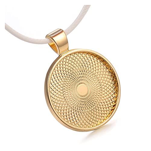 YSJJSQZ Base de cabujón 5pcs 25mm Cabochon Cameo de 45mm Cadenas Collar de Cuerda Blanca Colgante Bricolaje Hacer Joyas Accesorios de hallazgos a Mano. (Color : Rose Gold, Size : 5pcs)