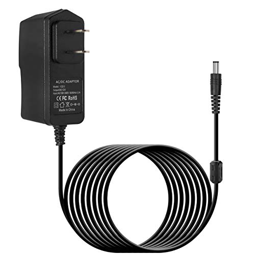 10FT 12V 2A AC/DC Power Supply Adapter Charger Cord for Yamaha PSR, YPG, YPT, DGX, DD, EZ and P Digital Piano and Portable Keyboard Series, Replacement PA-130 PA-130B Adapter