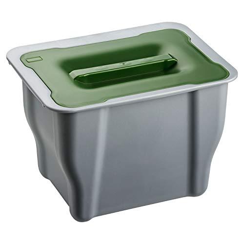 shelfmade Bio Mülleimer zum Einhängen - Abfalleimer mit Deckel 5l - Komposteimer Abfallsammler Abfallbehälter