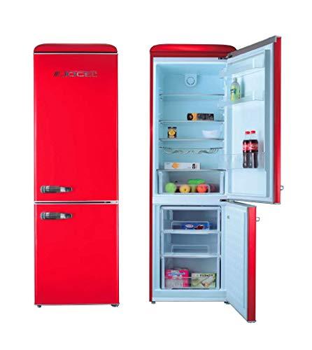 Jocel JC-300LV Frigorifico Combi 300LV A++ Rojo nevera y congelador, frigo 216L, congelador 84L