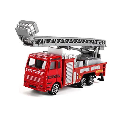 Coche de juguete para niños Aleación Ingeniería Coche de juguete de rescate de incendios, Modelo de coche Vehículo de juguete Juguetes educativos Fiesta de cumpleaños de Navidad Festival Fiest