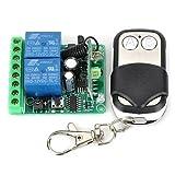 FAYM- Módulo de relé de control remoto 12V 2-Channel Wireless con mando a distancia (DC28V - AC250V)