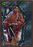 1996-97 Topps Finest #69 Allen Iverson RC - Philadelphia 76ers NBA Basketball Card (RC - Rookie Card) NM-MT. rookie card picture