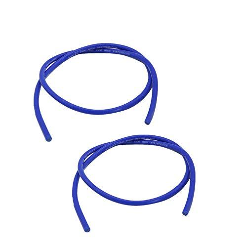 TAKPART 2x 8mm Silikon Zündkabel (Blau 1m)