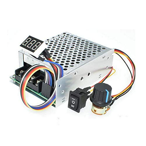 PWM DC Motor Speed Controller, DC10-55V/60A Stepless DC Motor Speed Controller with Forward-Brake-Reverse Switch Adjustable Potentiometer and LED Display